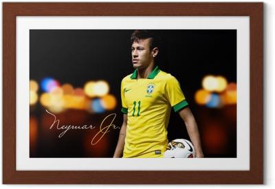 Póster com Moldura Neymar