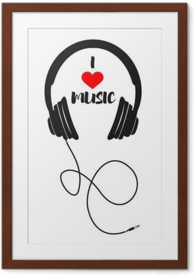 I love music Framed Poster