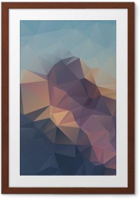 Poster en cadre Résumé de fond coloré géométrique. les sommets des montagnes. Composition avec triangles formes géométriques. polygone paysage. - Paysages