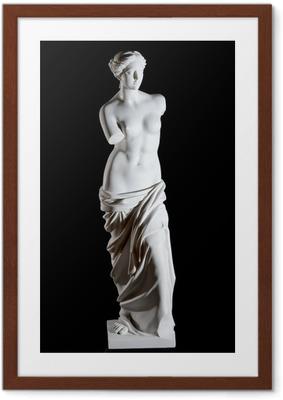 """Poster en cadre Statue en marbre blanc classique """"Vénus de Milo"""" isolé"""