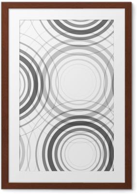 Poster en cadre Modèle de cercles monochromes sans soudure