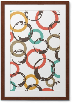 Poster en cadre Modèle vectorielle continue avec des cercles colorés.
