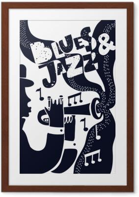 Póster com Moldura Vetor jazz poter