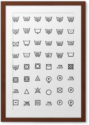 Poster i Ram Ställa icone lavaggio e lavatrice