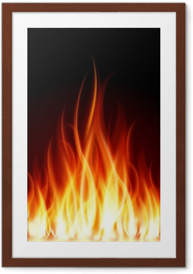 Póster com Moldura Burn flame fire vector background