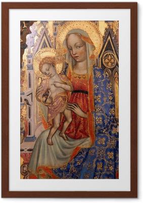 Poster en cadre Vierge à l'Enfant