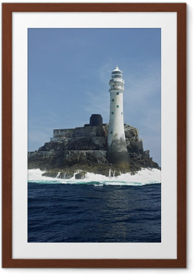lighthouse, Fastnet Rock, County Cork, Ireland Framed Poster