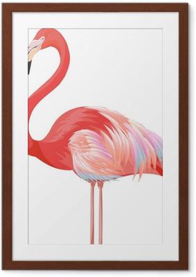 Póster com Moldura flamingo