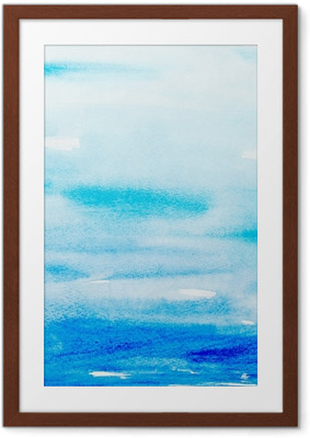 Gerahmtes Poster Farbstriche Aquarell, Malerei, Kunst