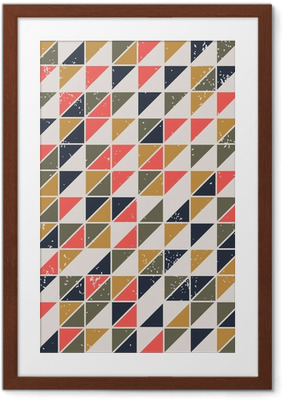 Poster en cadre Vintage abstract seamless pattern avec des triangles - Styles