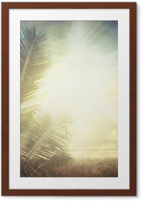 grunge palm-9 Framed Poster