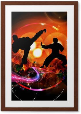 Karate illustration Framed Poster