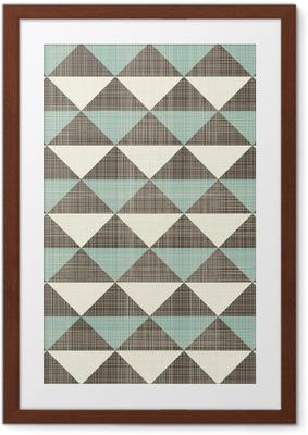 Poster en cadre Rétro triangles géométriques, seamless
