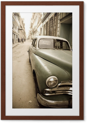 Kubalainen antiikki auto Kehystetty juliste
