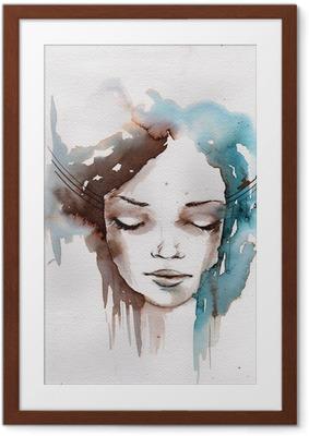 Ingelijste Poster Winter, koude portret