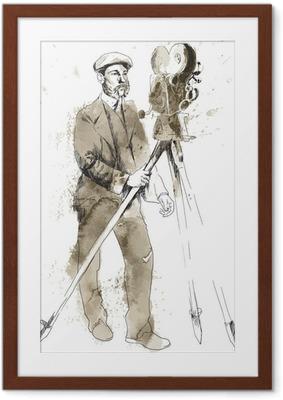 Plakát v rámu Dějiny filmu: Muž za kamerou