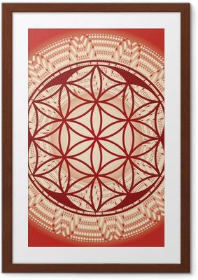 Flower of life seed mandala Framed Poster