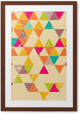 Triangles grunge seamless pattern Framed Poster