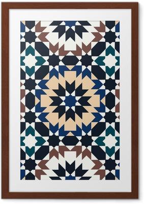 Ingelijste Poster Naadloze islamitisch geometrisch patroon