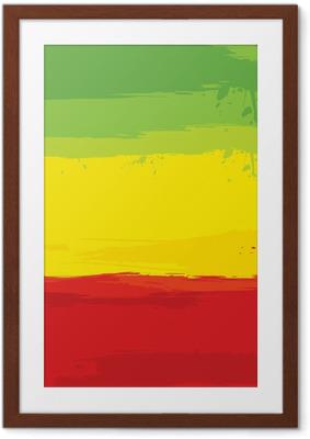 Plakat w ramie Grunge z flagą Etiopii
