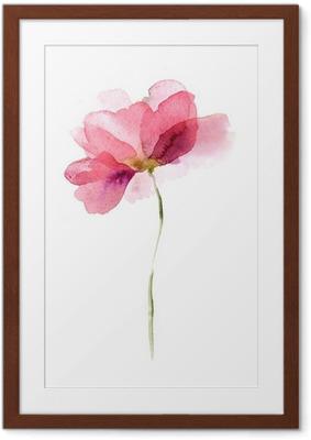 Vesiväri kukka Kehystetty juliste
