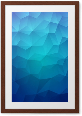 Abstract Triangle Geometrical Colorful Background Framed Poster