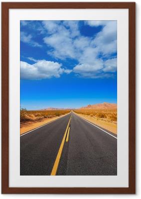 Ingelijste Poster Mohave woestijn van Route 66 in California USA