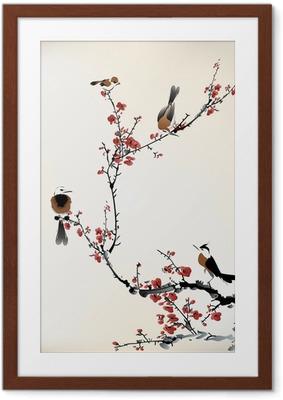 Poster in Cornice Uccelli pittura