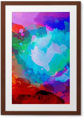 Poster en cadre Résumé palette d'aquarelle de couleurs de mélange - Abstraction