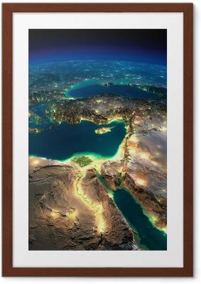 Poster in Cornice Notte Terra. Africa e Medio Oriente