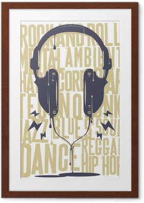 Çerçeveli Poster Boyalı Kulaklıklar