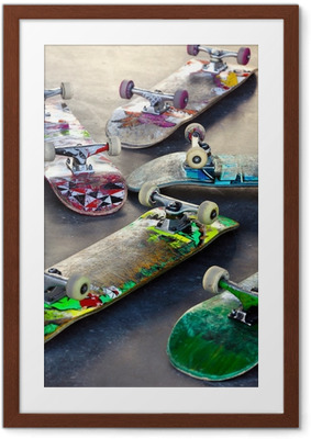 Old Skateboards Framed Poster