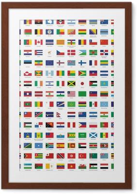 Plakat w ramie Flagi państw