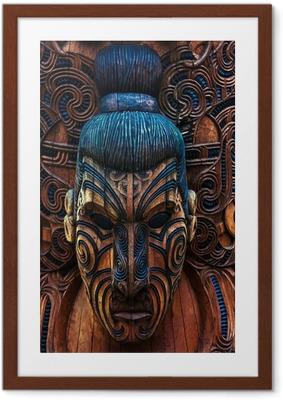 Gerahmtes Poster Maori Totem
