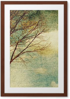 Grunge vintage nature background Framed Poster