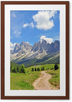 Gerahmtes Poster Berggipfel in den Alpen