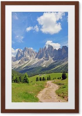 Plakat w ramie Szczyty górskie w Alpach