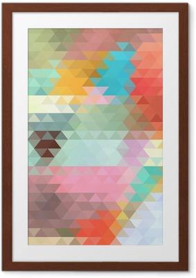 Gerahmtes Poster Hellen Hintergrund der Dreiecke