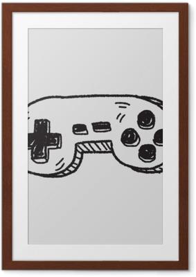 Plakat w ramie Doodle kontroler gier