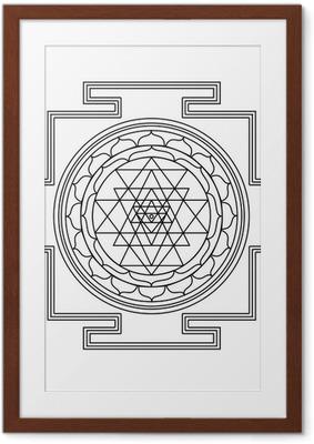 Vector Shri yantra Framed Poster