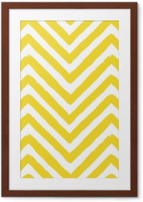 Póster Enmarcado Vector chevron yellow seamless pattern