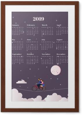 Calendar 2019 - journey Framed Poster