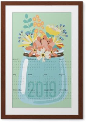 Calendar 2019 - flowers Framed Poster