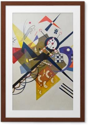 Plakat w ramie Wassily Kandinsky - Na białym tle II