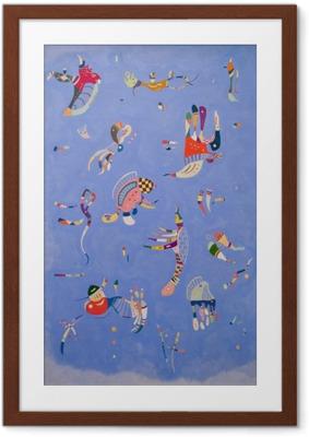Ingelijste Poster Wassily Kandinsky - Hemelsblauw
