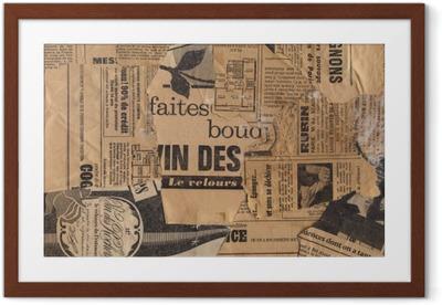 Poster en cadre Vieux Papiers