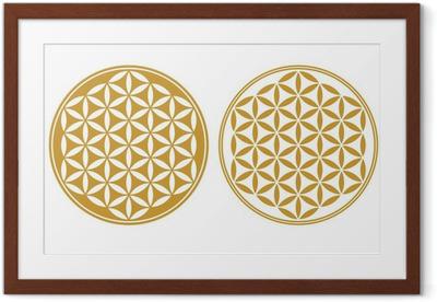 Poster en cadre Fleur de Vie - Icône de protection, la Géométrie Sacrée