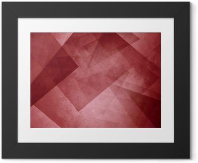 8cd769c8 Innrammet plakat Rød trekant bakgrunn. elegante lag av blokker og  trekantede former i tilfeldig mønster