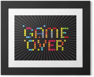 Çerçeveli Poster Video Oyunları Simgeler