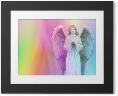Rainbow Angel 88 Framed Poster
